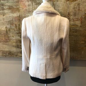 Talbots Jackets & Coats - Cream aberdeen blazer with detachable fur collar